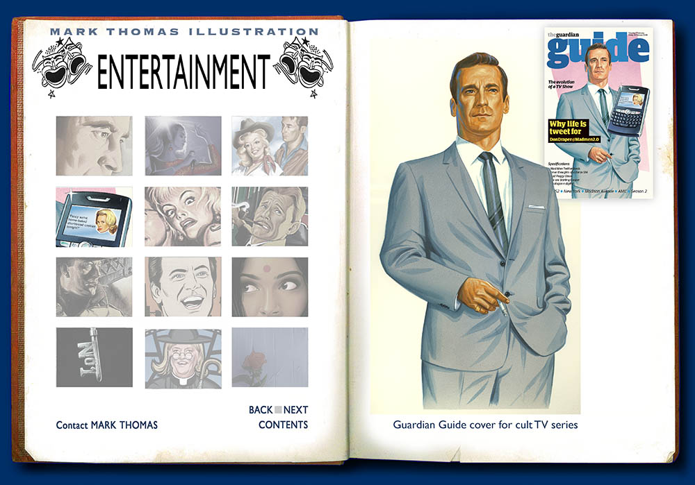 Mad Men. Entertainment Illustration by Mark Thomas. Please note this is a UK based all image site