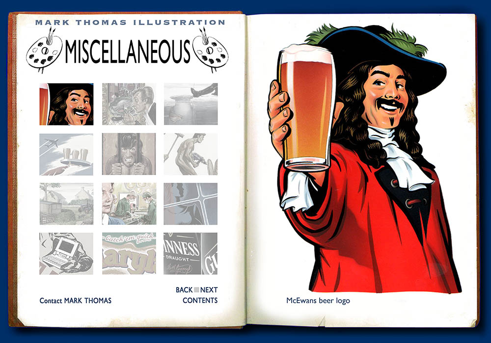 McEwans Cavalier. Illustration by Mark Thomas. Please note this is a UK based all image site