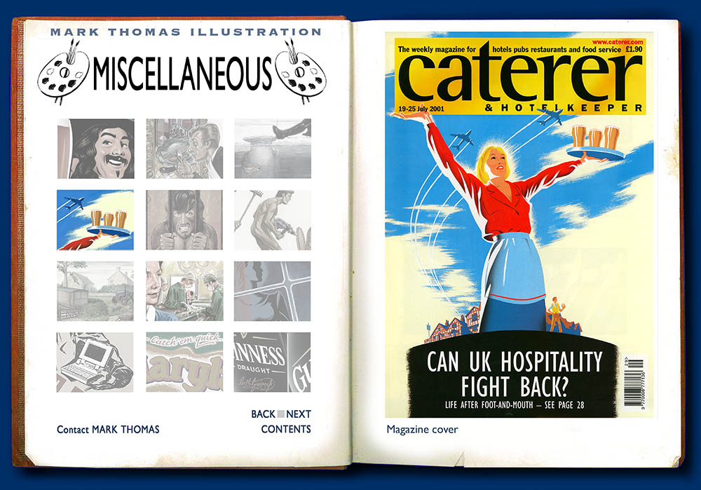 The Caterer, After Foot and Mouth. Illustration by Mark Thomas. Please note this is a UK based all image site